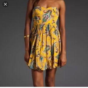 TIBI Strapless Paisley Mini Dress - 4